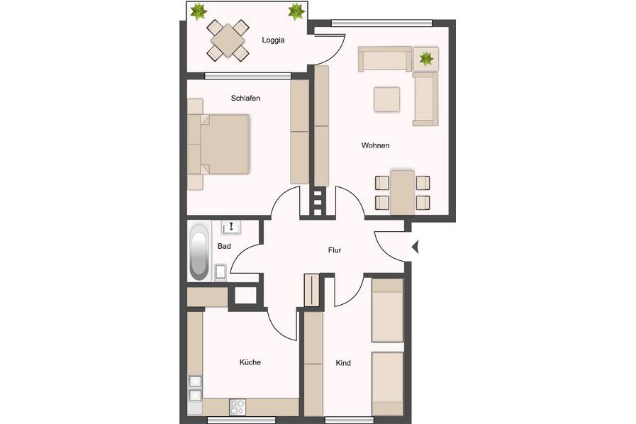 Telgte Gro 223 Z 252 Gig Geschnittene 3 Zimmer Whg Mit Sw Balkon